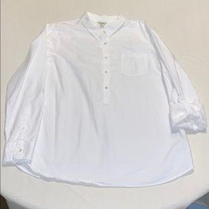 LL Bean partial button tunic, NWOT